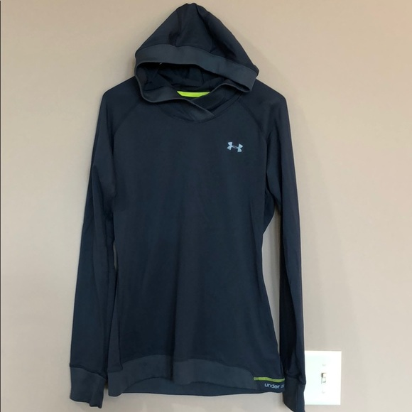 aad802f83 Under Armour Tops   Catalyst Cold Gear Navy Hoodie L   Poshmark